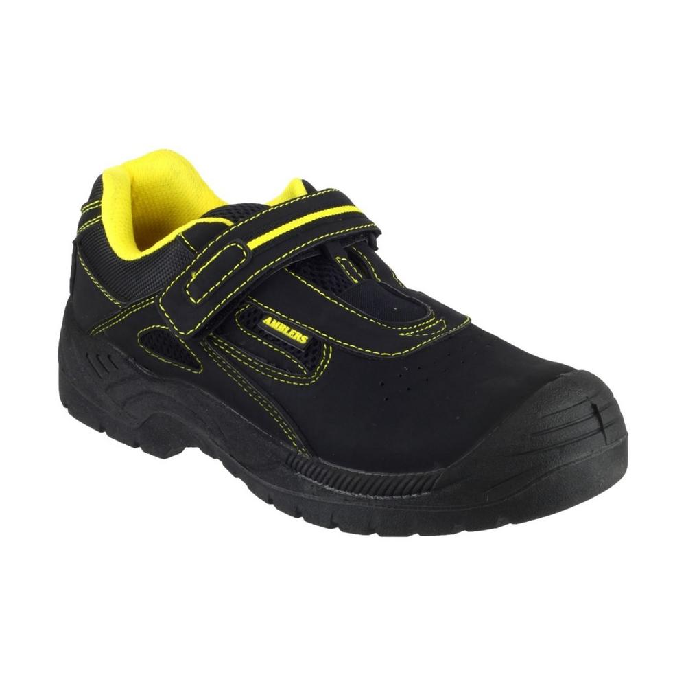 Amblers FS77 Unisex S1 Safety Trainer, With Velcro Strap - Black