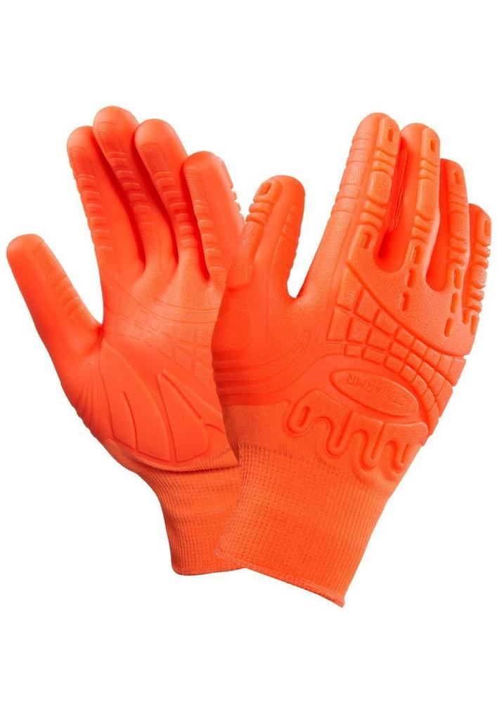 Ansell 97-321 ActivArmr Mad Grip Impact Glove Hand Protection Work Gloves HI Vis