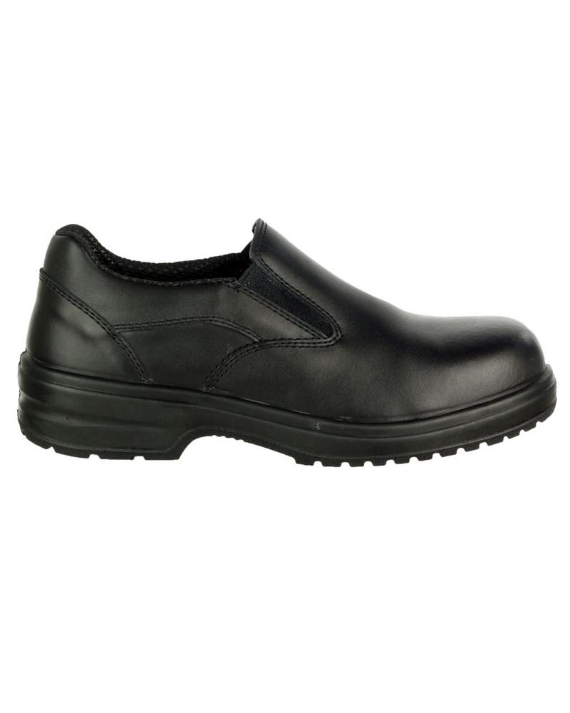 Amblers FS94C Womens Safety Slip On Shoes Black