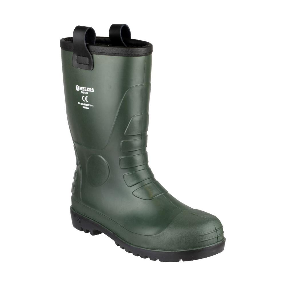 Amblers FS97 Green Pull on Steel toe S5 Safety Rigger Boot