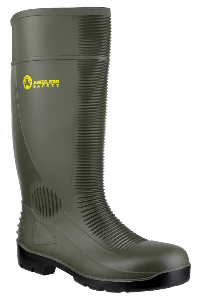 Amblers FS99 Unisex Waterproof S5 Green Safety Wellington
