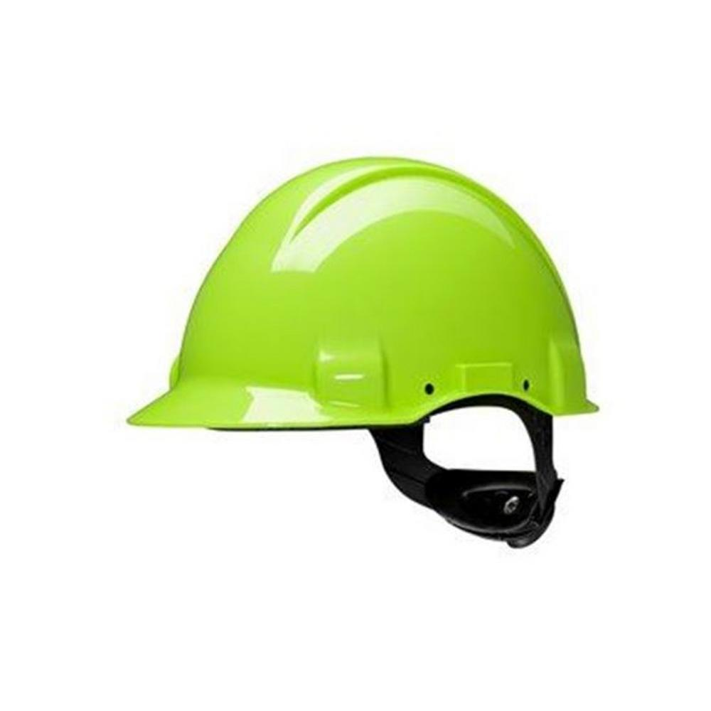 3M G3000Nuv-Gb Peltor  Hi Vis Yellow Vented Ratchet Helmet