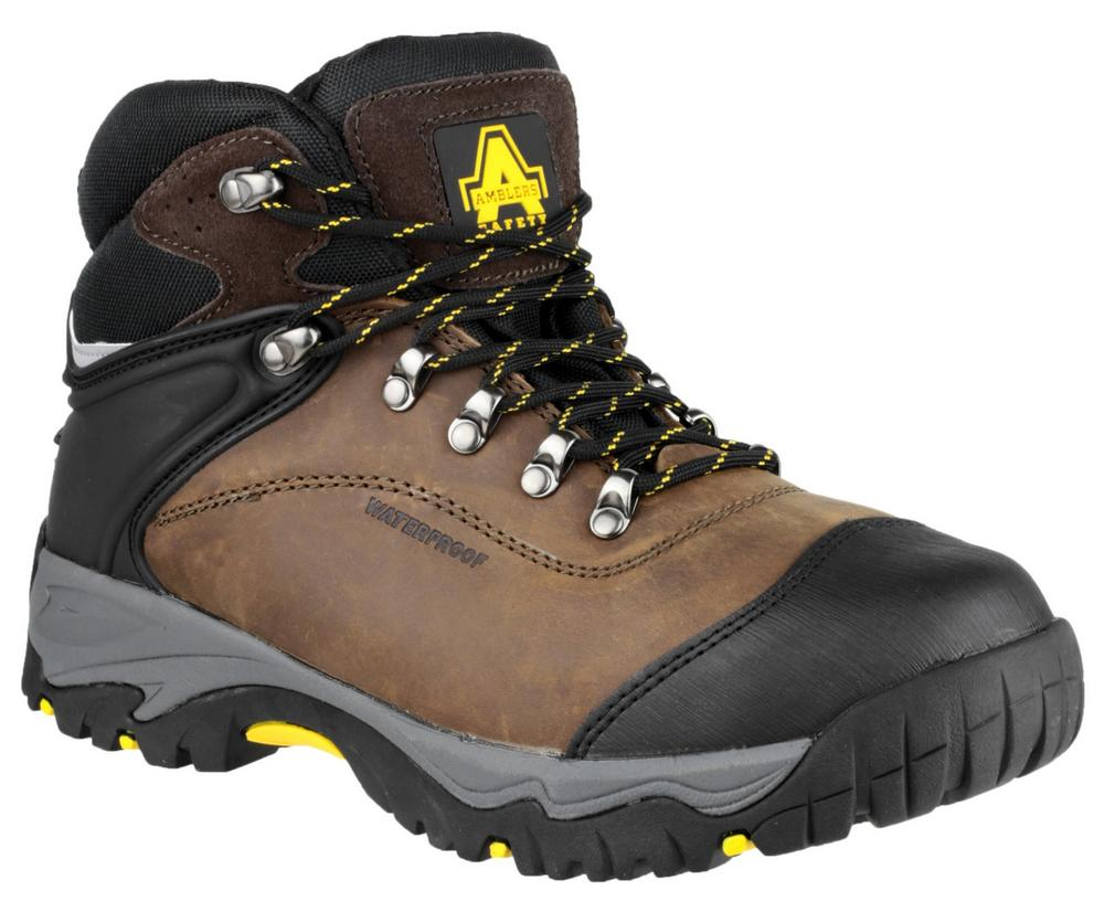 Amblers FS993 Unisex Waterproof Leather Safety Boot Brown