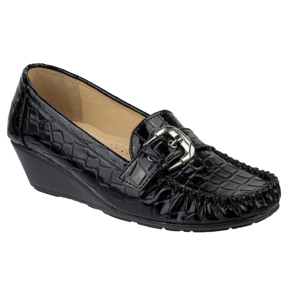 Amblers Kensington Womens Slip-on Leather Shoe (Non Safety)