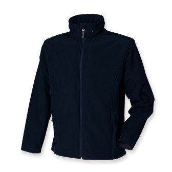 Henbury Munro H825 Soft Shell Jacket Navy Fleece