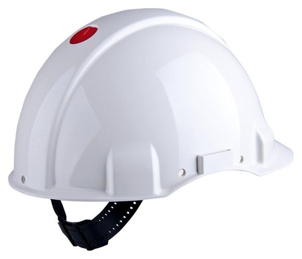 3M Peltor G3000CUV-VI ABS White Safety Helmet Uvicator, Pinlock, Dielectric 440v