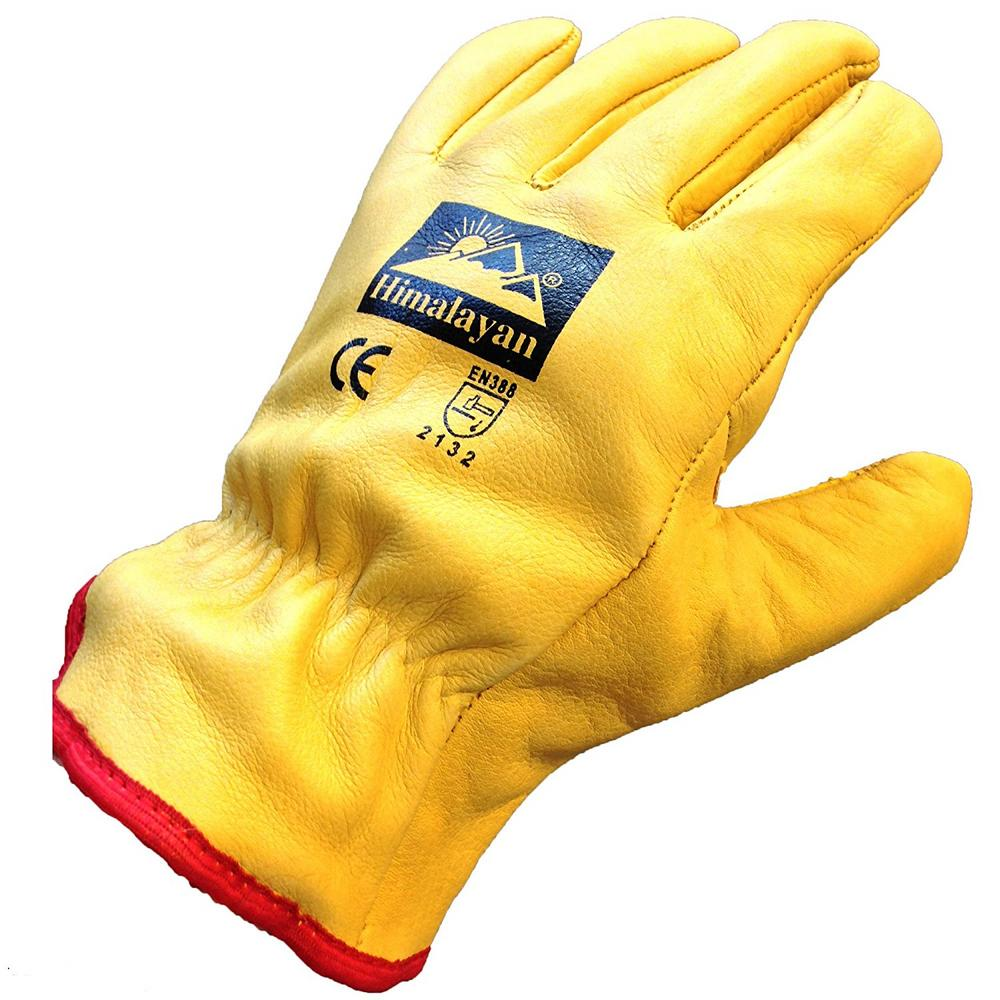 Himalayan H310 Fleece Lined Leather Thermal Premium Drivers Glove 10 Pairs