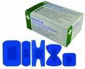 HypaPlast D7010 Metal Detectable Safety First Aid Assorted Size Blue Plasters, Set of 100