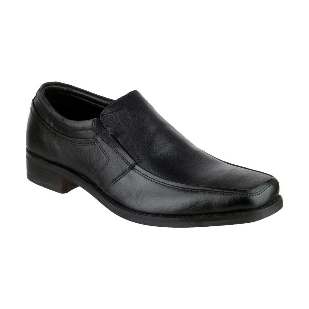 Amblers Kevin Leather Slip On Men's Suit Shoes Formal Leather Black