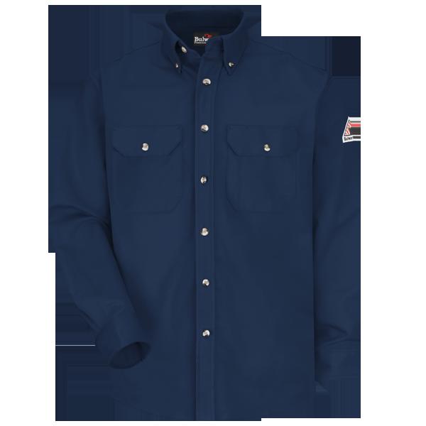Bulwark SLU2NV EXCEL FR® ComforTouch Arc Flame Resistant Navy Uniform Shirt