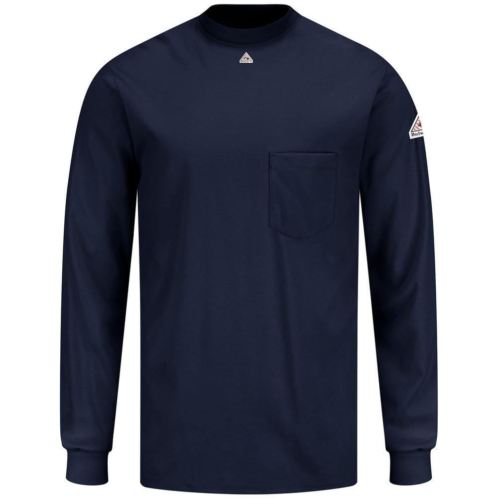 Bulwark T-Shirt SET2NV Long Sleeve Navy Fr Arc Resistant Cat 2 Rating
