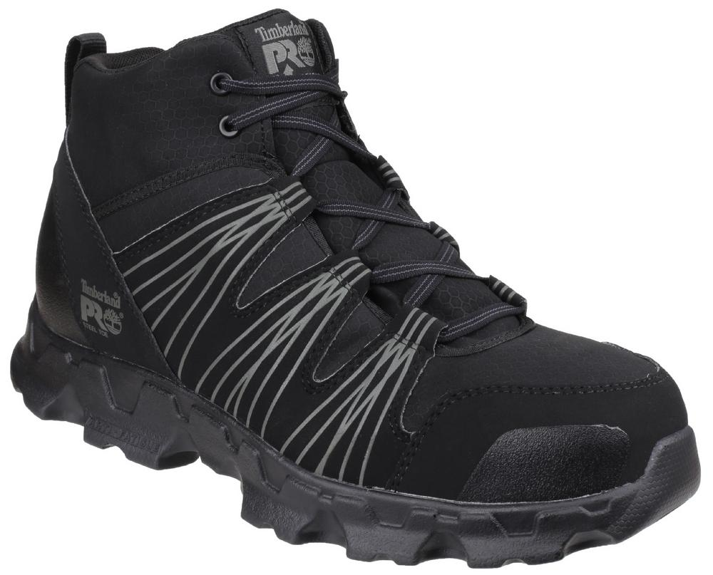 Timberland Pro Workwear Powertrain Mid Black Lace up Safety Boot