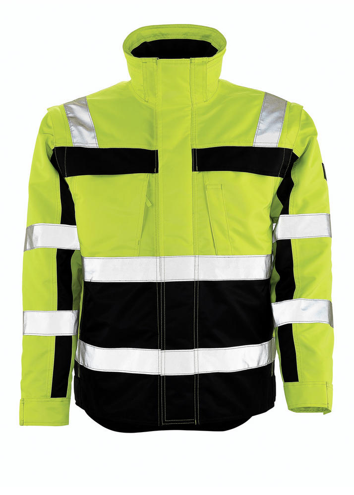 Mascot 09335-880-171 Loreto Water Repellent Hi Vis 3 in 1 Rain Parka Pilot Jacket, Size - Large