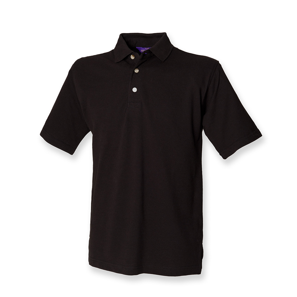 Henbury H100 Stand Up Collar T-Shirt Uniform Cotton Piquet Polo Shirt