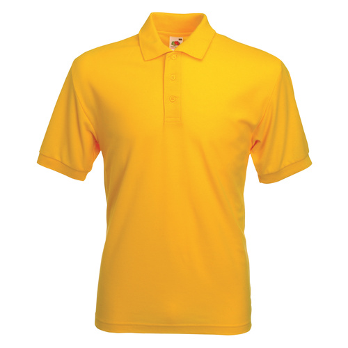 Fruit of the Loom Polo Shirt 63-402 Yellow SC63402
