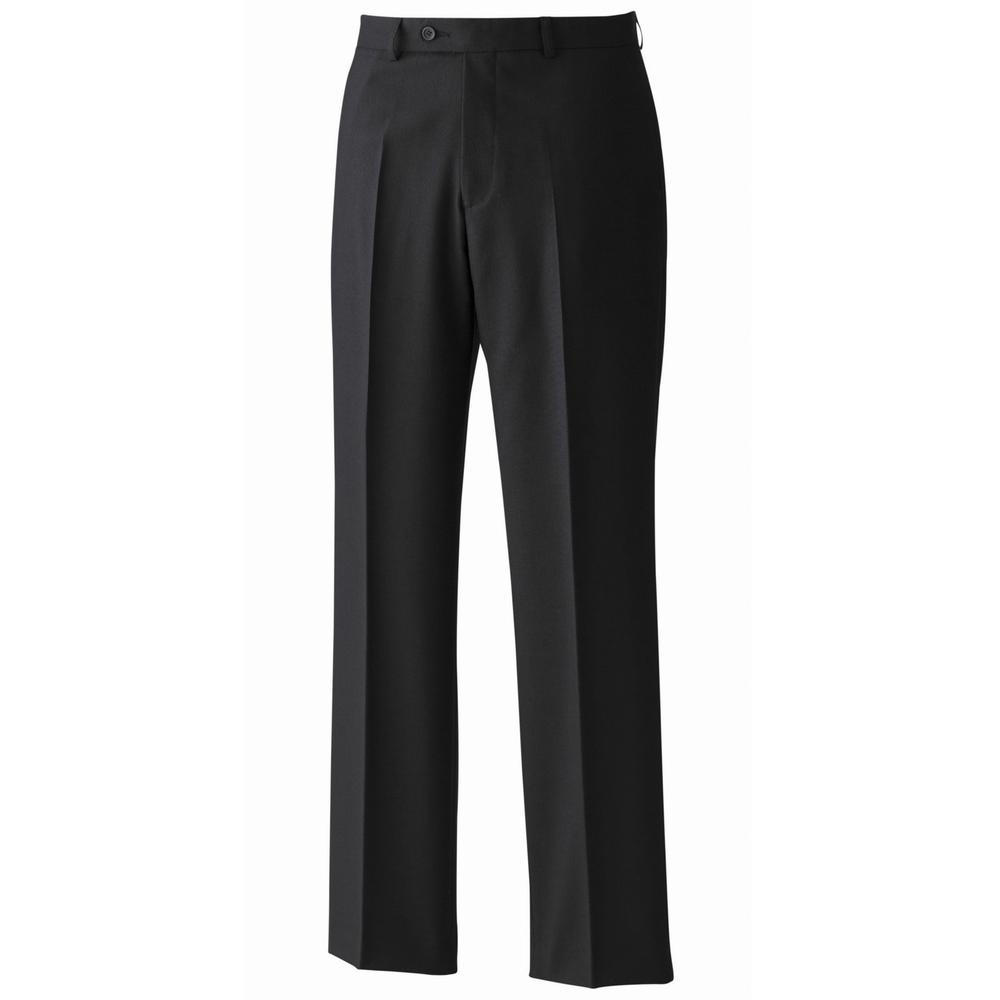 "Premier PR524 Flat Front poly\wool Black Trousers 31"" Leg"