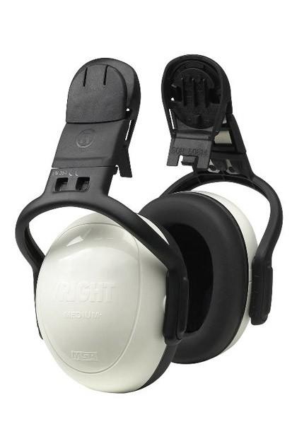 MSA Sordin Left Right 10087430 Helmet Mount Ear Muff Set Snr25, White