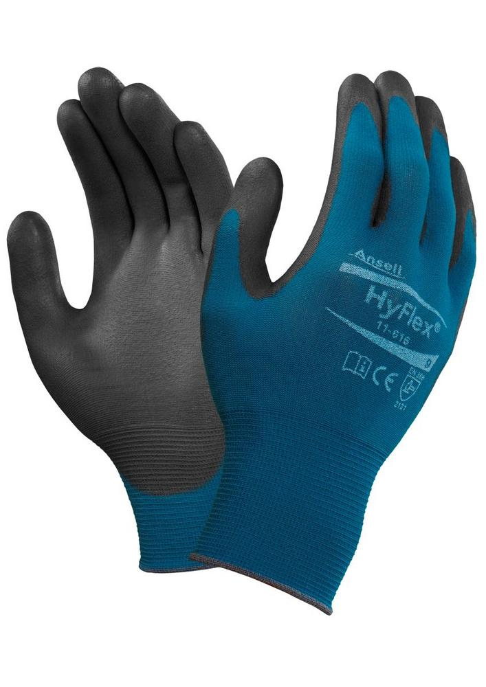 Ansell 11-616 HyFlex lightweight 18-Gauge Glove General Handling High Grip