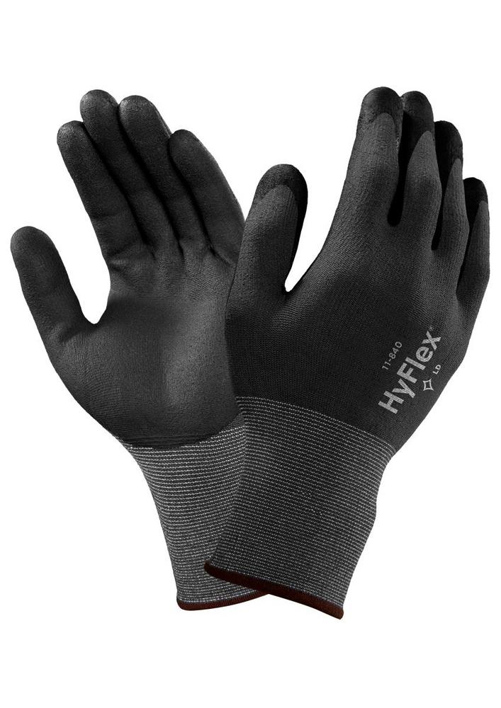 Ansell 11-840 HyFlex with FORTIX Nitrile Foam Coating Gloves