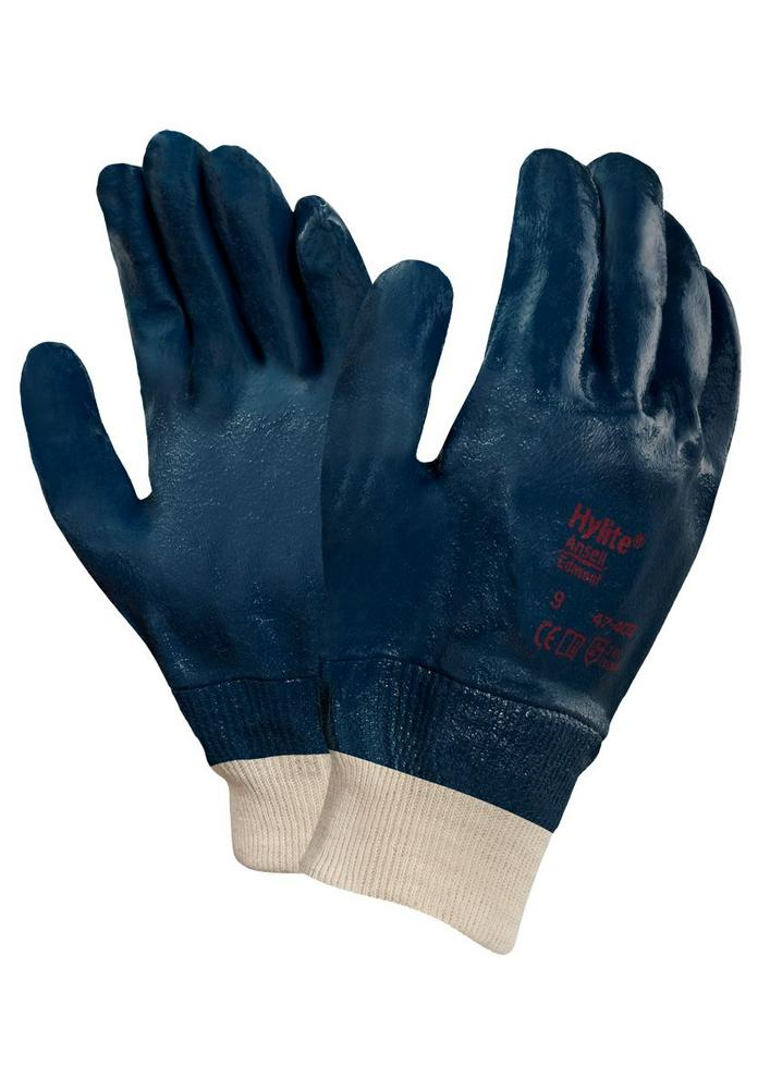 Ansell 47-402 HyLite Nitrile Full Coating Oil Repellent Grip Work Gloves