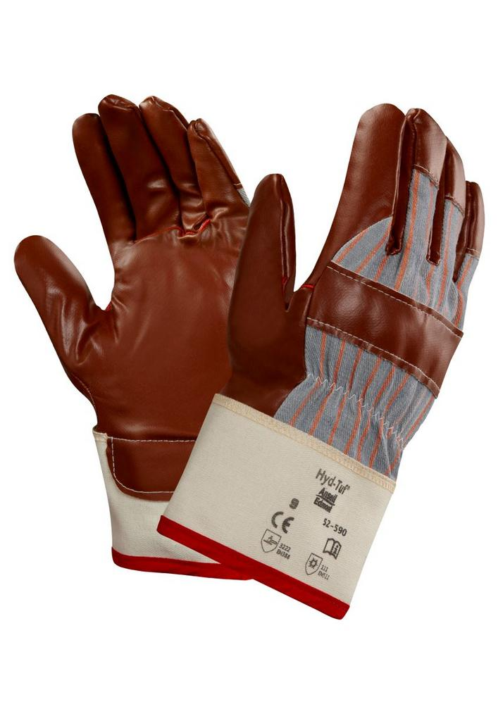 Ansell 52-590 Hyd-Tuf Nitrile Coated Cotton Thermo-Liner Winter Work Gloves