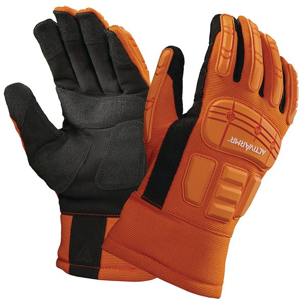 Ansell 97-210 Impact Resistant Oil Impermeable Cut Protection Rigger Gloves