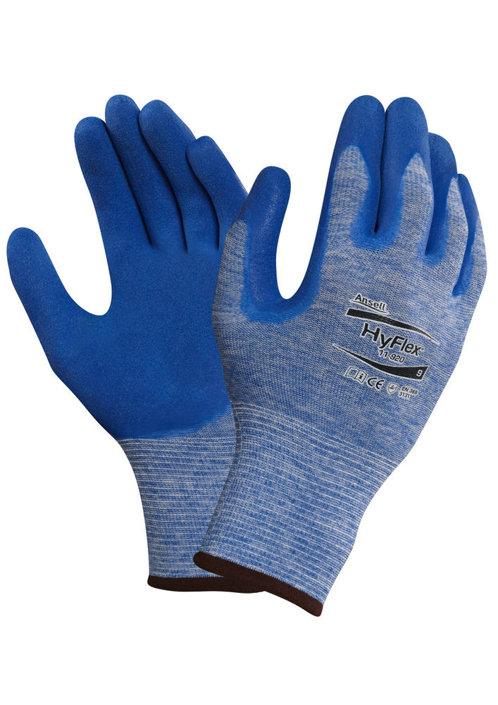 Ansell HyFlex 11-920 Palm Coated General Handling Glove Blue