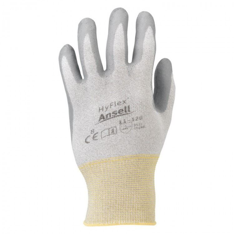 Ansell HyFlex 11-120 Nitrile Palm Coated Work Gloves ESD Tested