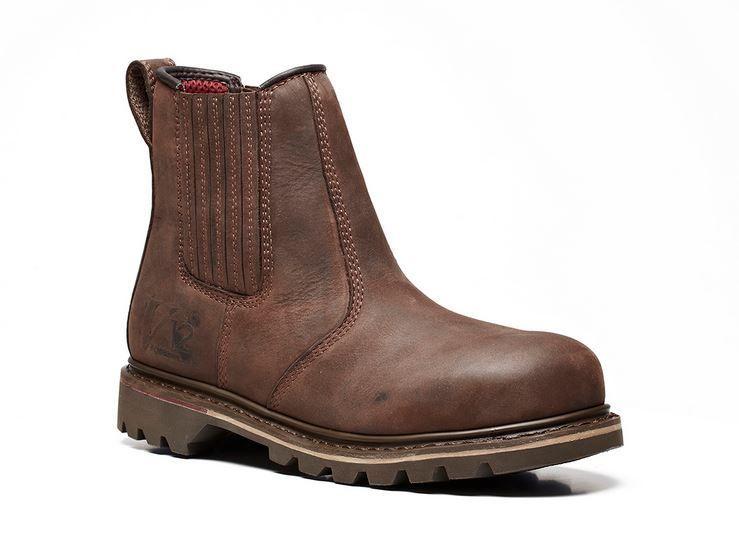 V12 Rawhide Oiled Leather Safety Dealer Work Boot Chelsea V1231 UK 6-13 Brown