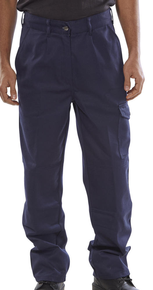 Arvello Adastra Navy 285gm Knee-pad Pockets, 3 Leg Lengths Work Trousers