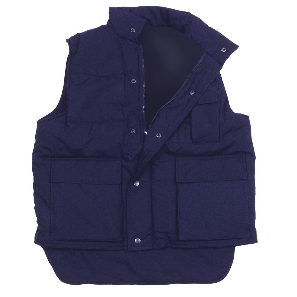 Arvello Multi-pocket, Stud & Zip Navy Quilt Lined Bodywarmer