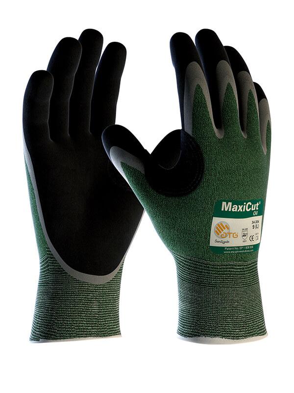 ATG MaxiCut Oil Palm Coated 34-304 Cut-Resistant Gloves