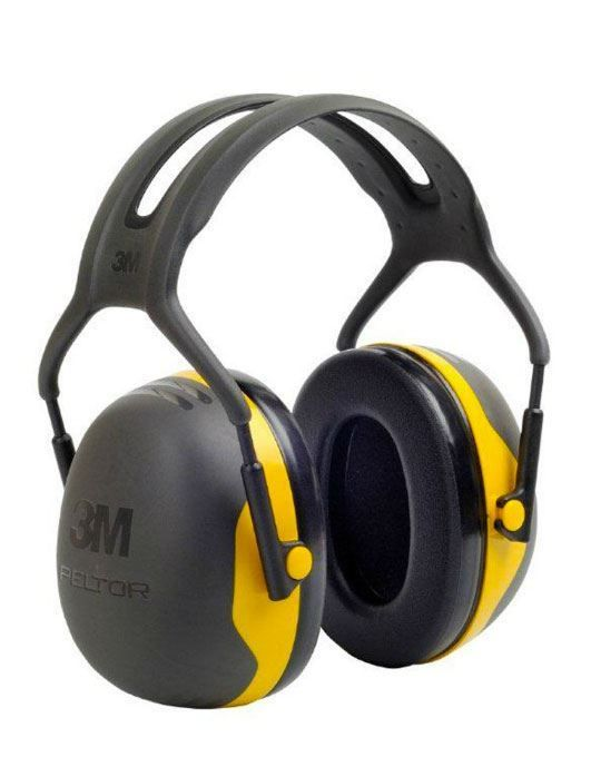 3M Peltor X2A Over-the-Head Earmuffs 31dB SNR Headband Ear Defenders Yellow