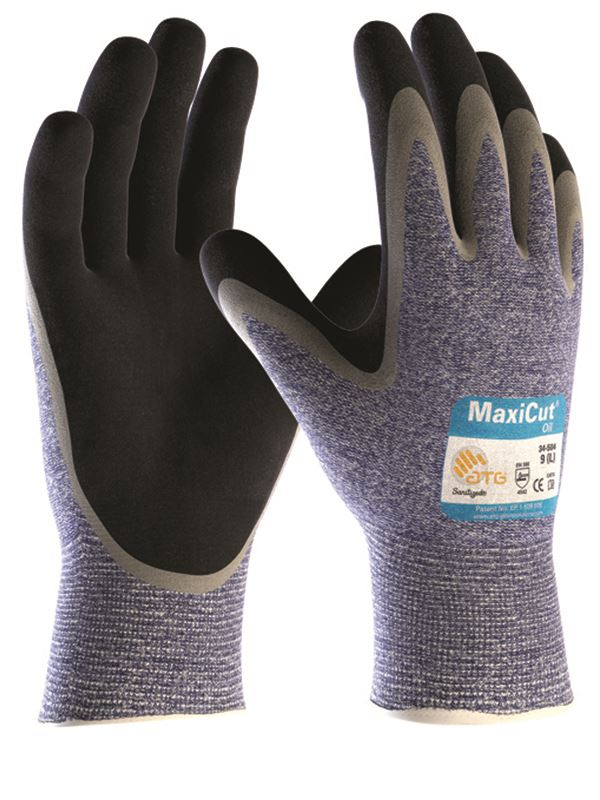 ATG MaxiCut Oil Palm Coated 34-504 Gloves Cut 5 Resistant