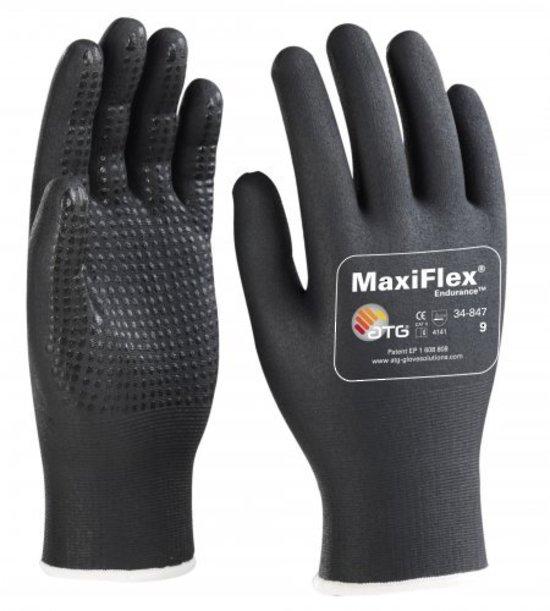 ATG 34-847 MaxiFlex Endurance Nitrile Foam Micro Dots Grip Work Gloves