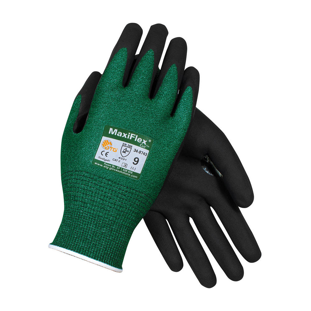 Atg Maxiflex 174 Cut Glove Green Black