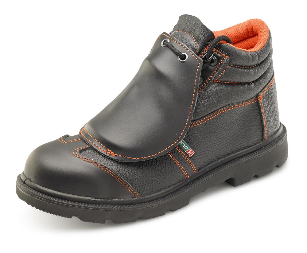 B-Click Metatarsal Safety Boots Slip Resistant, Steel Midsole S3 Black CF5BL