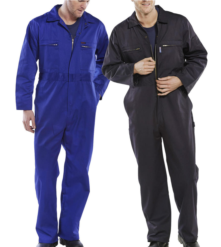 Beeswift PCBSHW Polycotton Front Zip Mechanics Boiler Suit Coverall