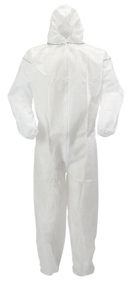 Blackrock 79001 Premium Disposable Coveralls White Boilersuit Hood Painters