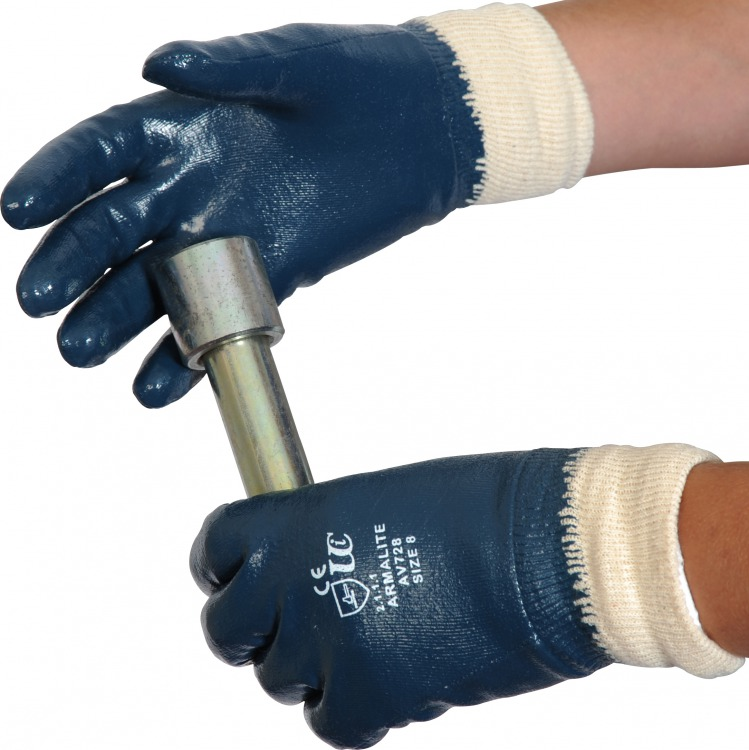 Ultimate Industrial AV728 Armalite Nitrile Coating Work Glove - Size 9