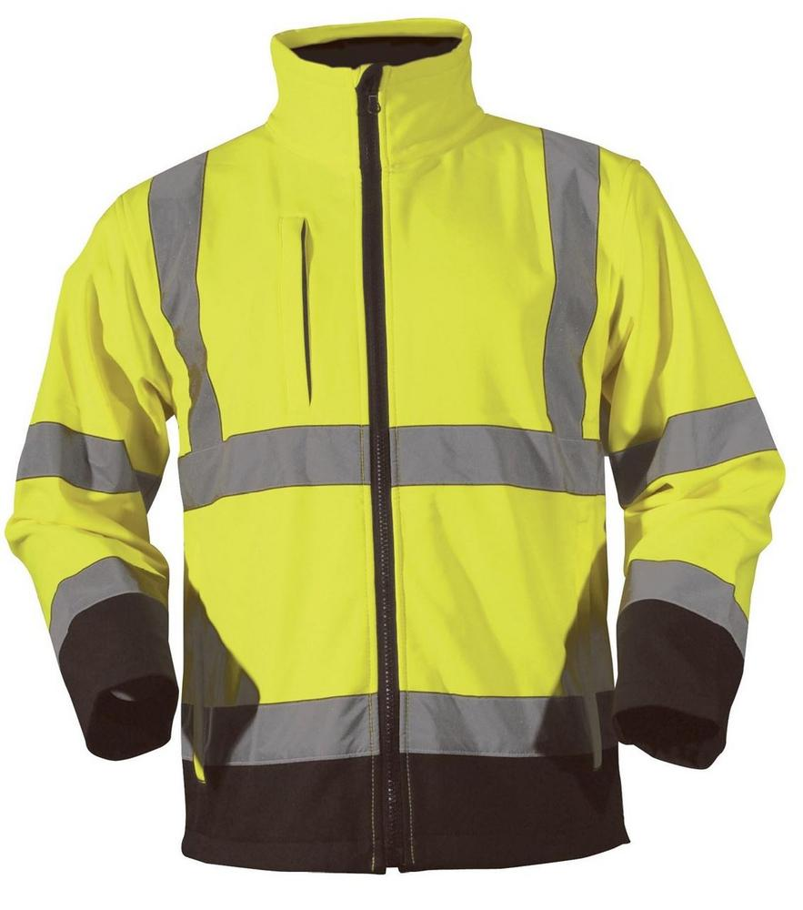 Blackrock 80500 Hi Vis Soft Shell Jacket Outdoor Traffic Yellow