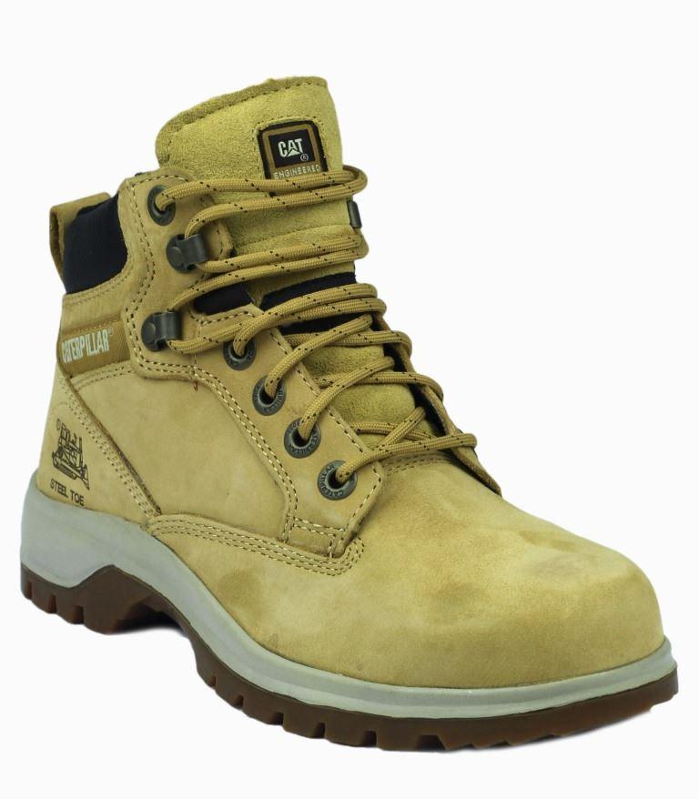 Caterpillar Kitson S1 HRO SRC Honey Womens Safety Boots