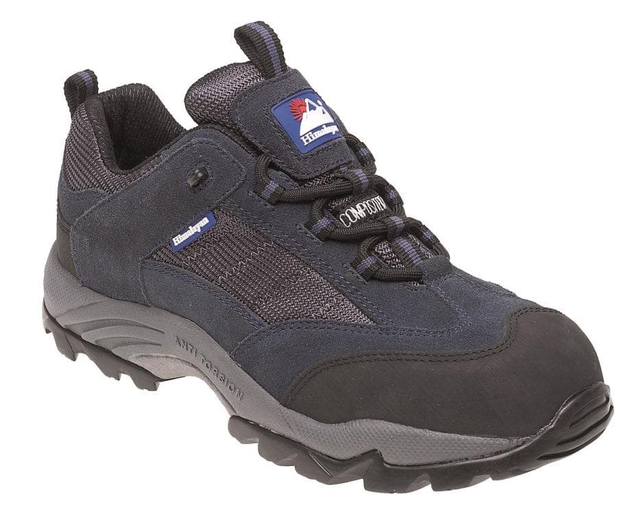Himalayan Navy Suede/Nylon Metal Free Safety Trainer with Gravity Sole