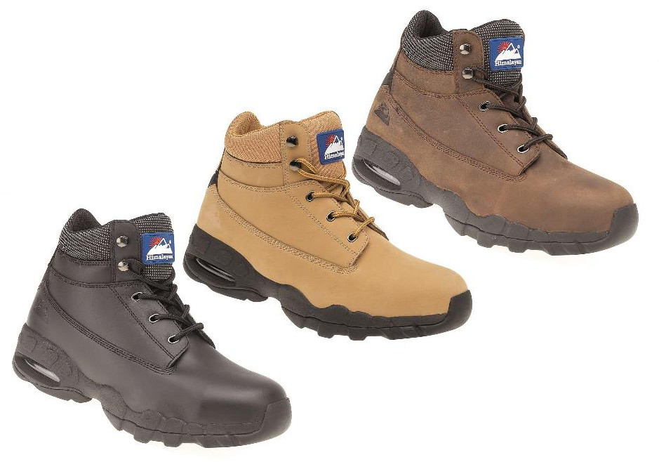 Himalayan Leather Safety Boot with EVA/Rubber Sole and Midsole