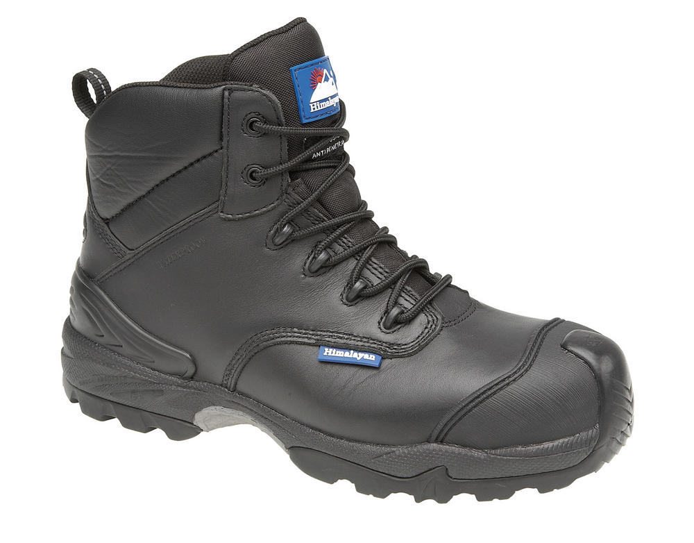 Himalayan Black Leather Waterproof Boot Metal Free Cap/Midsole Gravity Sole