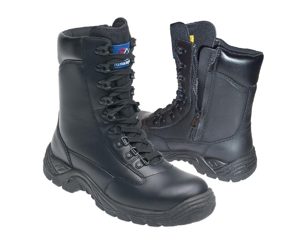Leather High Cut Safety Boot With Tpu Sole And Midsole