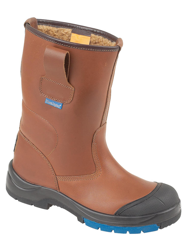 Himalayan Brown HyGrip Safety Warm Lined Rigger Steel Midsole and Scuff Cap PU/Rubber Outsole