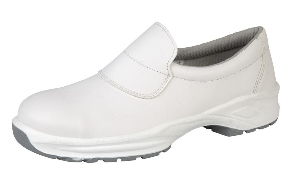 Himalayan White Microfiber Slip On Shoe PU Outsole