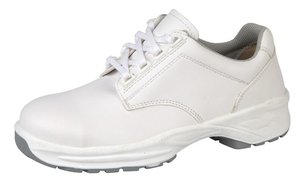 Himalayan White Microfiber Lace Shoe PU Outsole