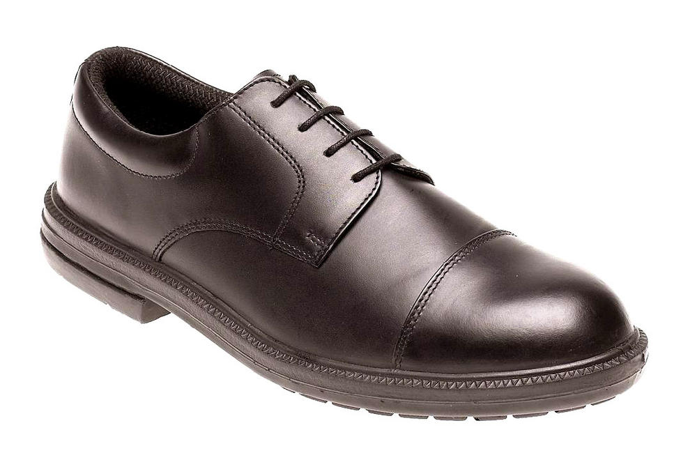 Himalayan Black Leather Formal Safety Shoe with Dual Density Sole & Midsole